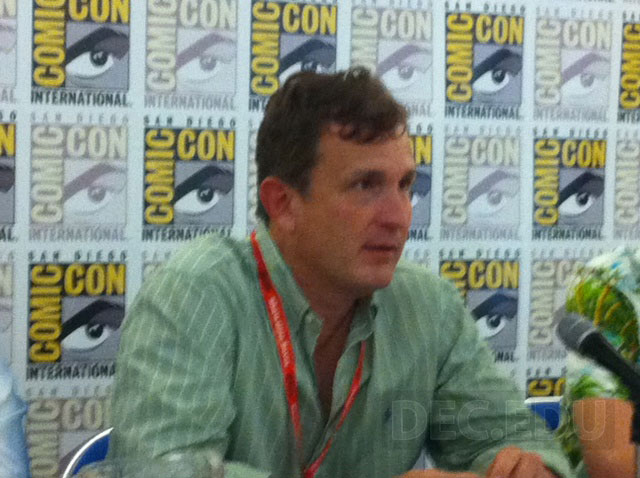 """Factory Director Robert Tinnell at the San Diego Comic-Con where Tinnell was a guest on a panel promoting Monsterverse Comics - including Tinnell's new four-volume graphic novel series, """"Flesh and Blood"""